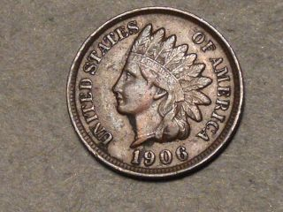 1906 Indian Head Cent (full Liberty) 5814b photo