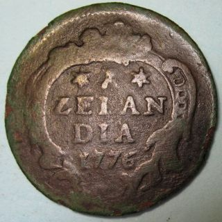 1776 Magic Keydate Date Of Independence Colonial York Penny Zeeland $$ photo