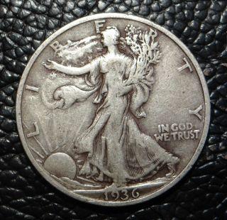 1936 S Walking Liberty Silver Half Dollar photo