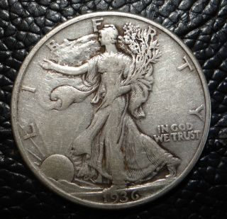 1936 P Walking Liberty Silver Half Dollar photo