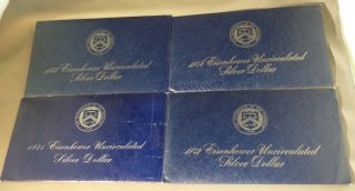 1971 - 1972 - 1973 - 1974 Eisenhower Ike Silver 40 Unc Dollars - In Envelopes photo