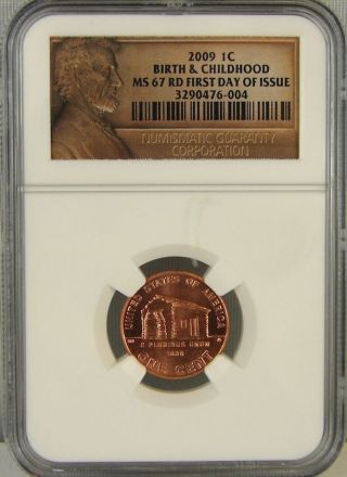 2009 Birth & Childhood Lincoln Cent Ngc Ms67rd photo