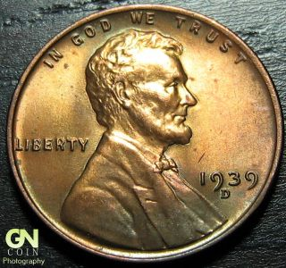 1939 D Lincoln Cent Wheat Penny - - Make Us An Offer O1013 photo