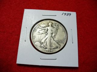 1939 Walker Liberty Walking Half Dollar 50 Cent Piece Coin photo