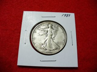 1937 Walker Liberty Walking Half Dollar 50 Cent Piece Coin photo