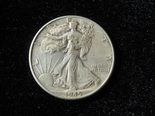 1945 Silver Walking Liberty Half Dollar W Coin photo