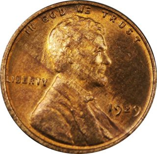 1929 - P Lincoln Wheat Cent Unc Toned Woody photo