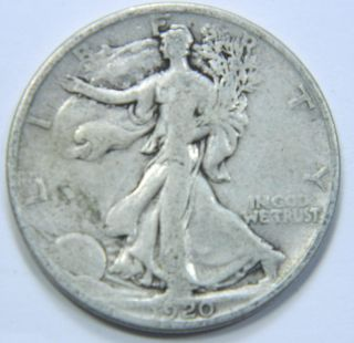 1920 - P U.  S.  Walking Liberty Silver Half Dollar Coin - You Grade - 122917 photo