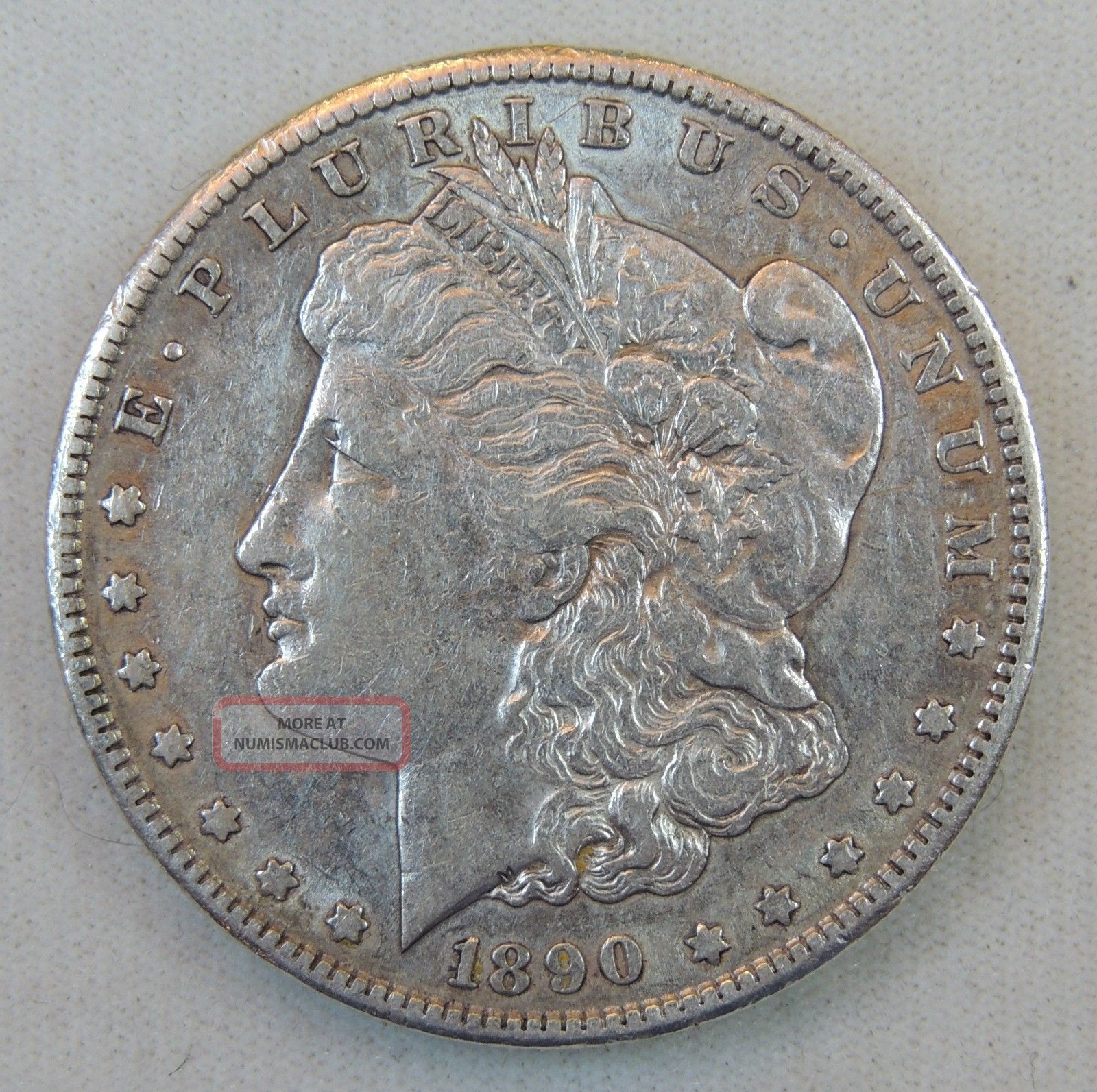 1890 S 1 Morgan Silver Dollar Xf Details Cleaned