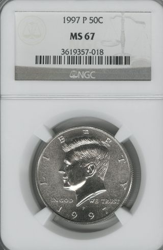 1997 P Kennedy Half Ngc Ms 67 - - - - - - - - - photo