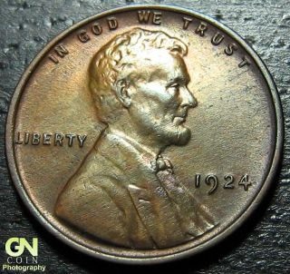 1924 P Lincoln Cent Wheat Penny - - Make Us An Offer O1880 photo