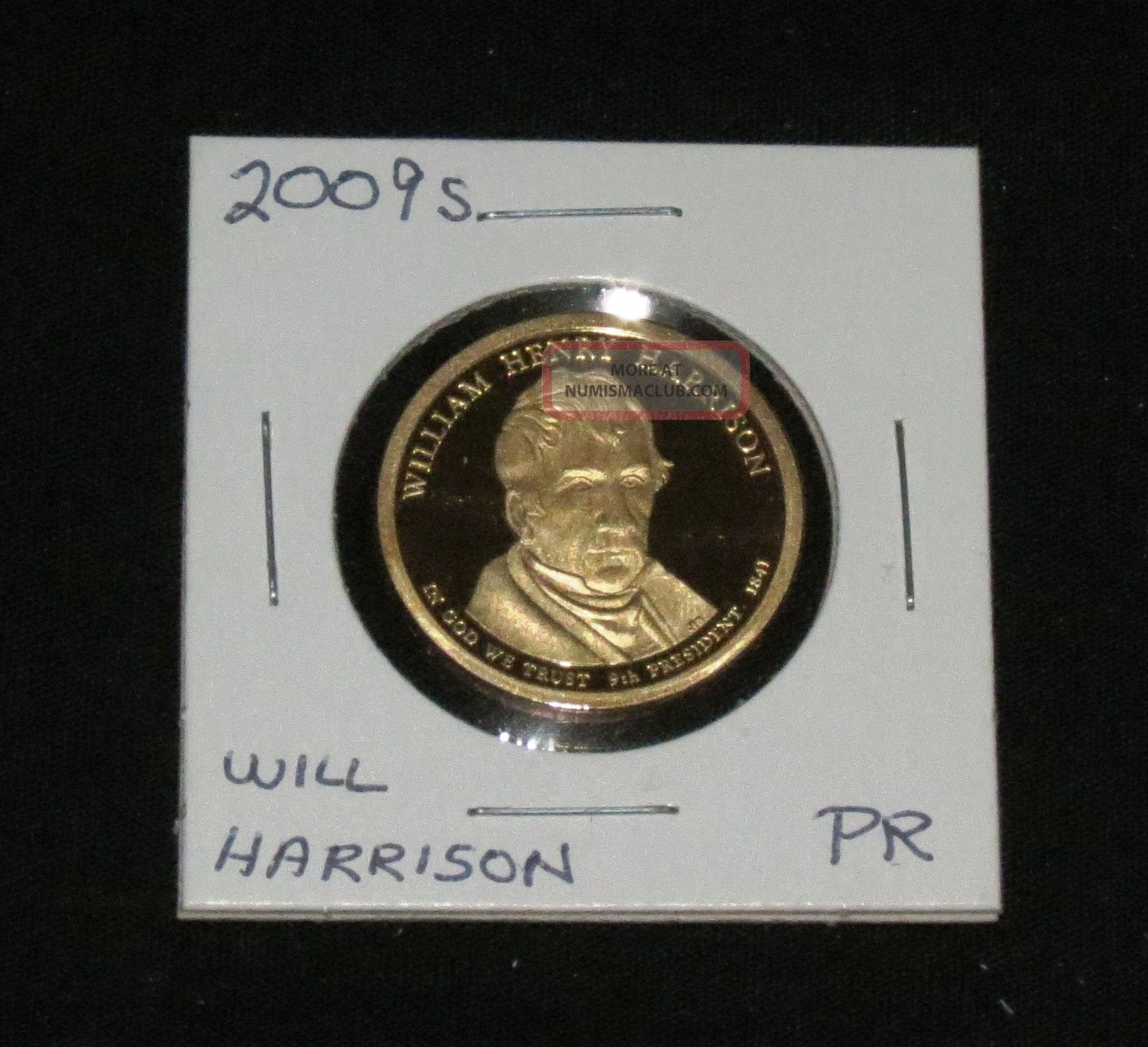 2009s Pres.  William Harrison Proof Dollars photo
