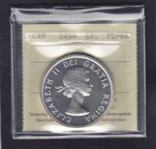 1959 Silver Dollar In Pl 66 Cameo,  Iccs Certified,  (xhh 383). photo