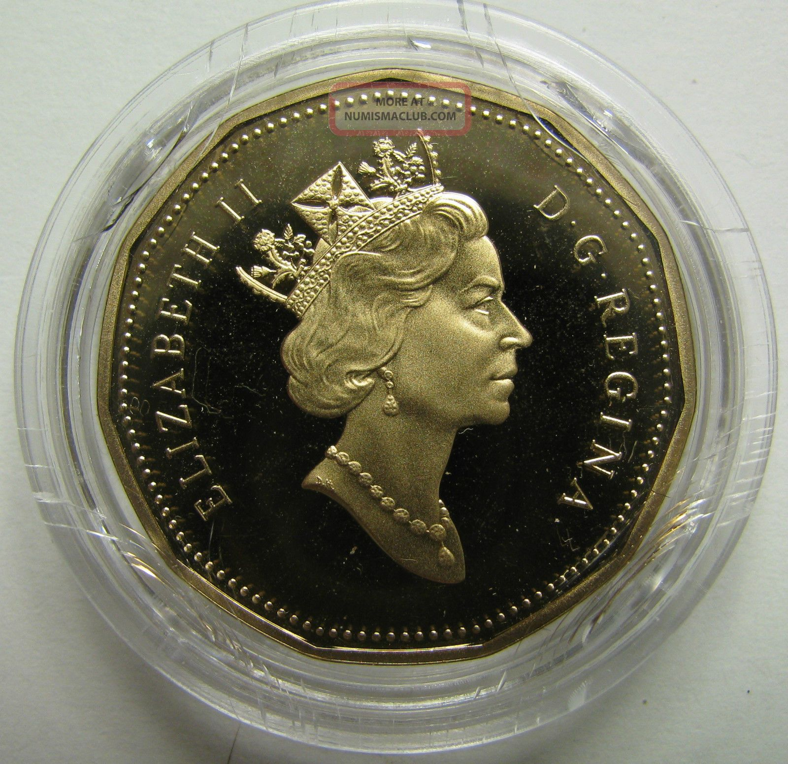 1867 1992 Proof 1 Loon Canada Loonie One Dollar Coin Only