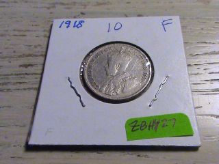 1918 Canadian Silver Quarter - Zbh427 photo