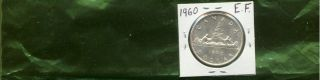 1960 Canada Silver Dollar Extra Fine (look) photo