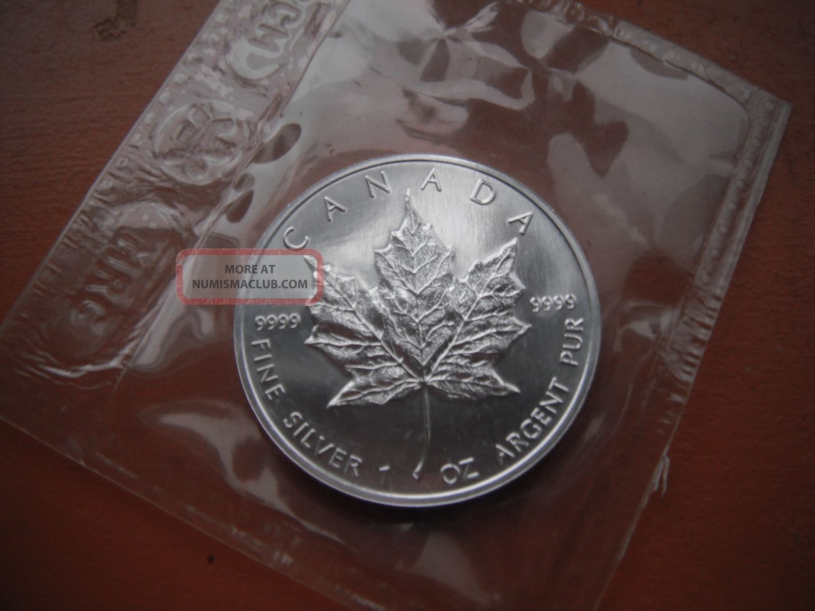 1991 5 Dollar Canada 999 Fine Silver Maple Leaf 1oz