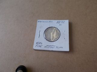 Newfoundland 20 Cent Coin 1872h photo
