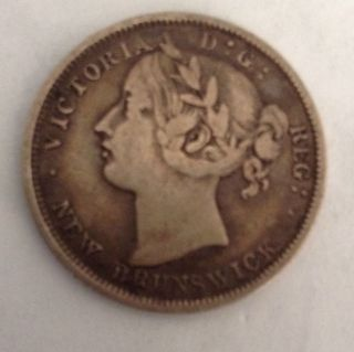 1862 Brunswick Silver 20 Cents - Very Fine Better Date photo