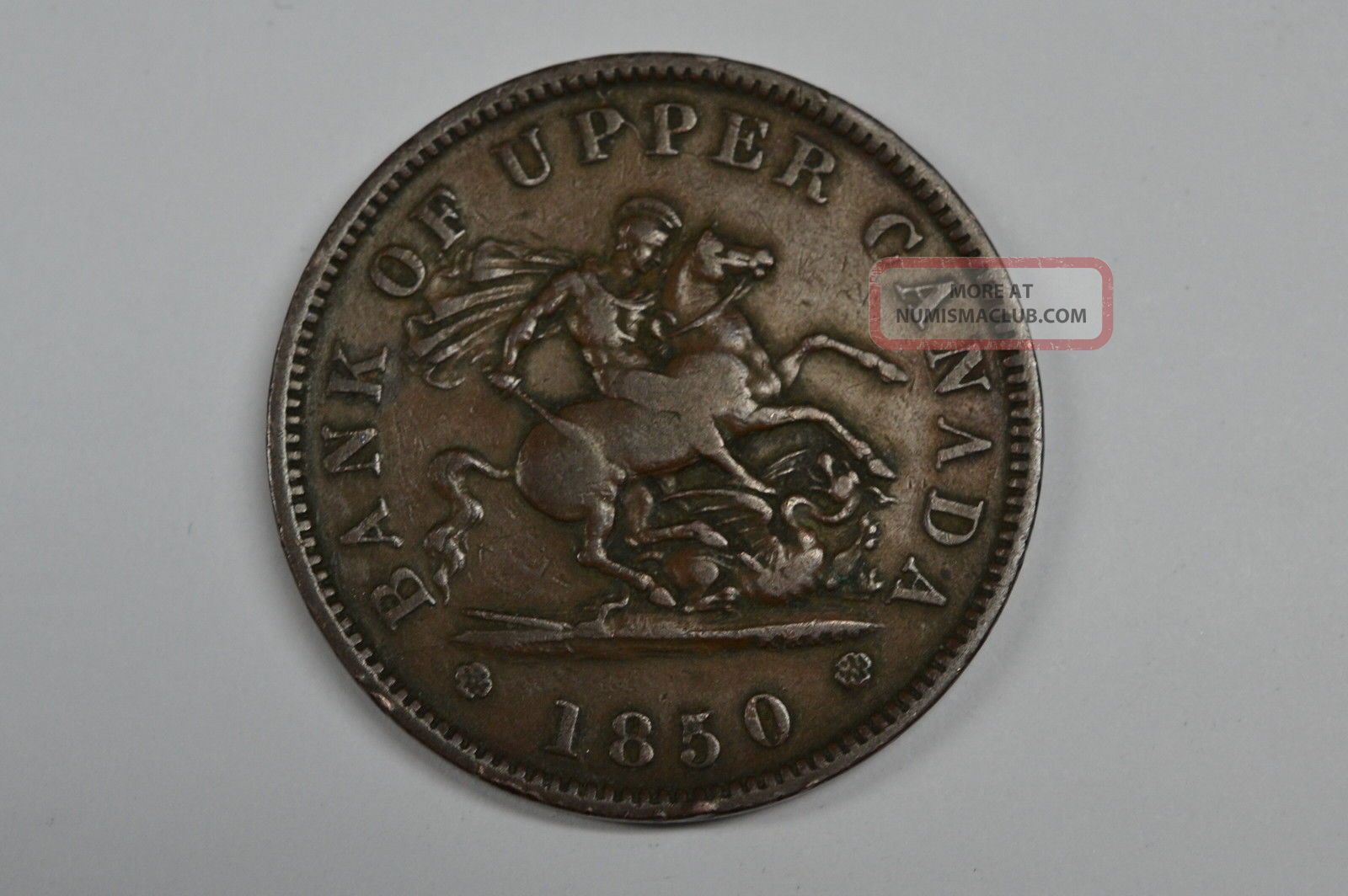 1850 Canada Large Cent Token Vf Plus