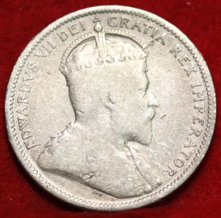 1903 Canada 25 Cents Silver Foreign Coin S/h photo