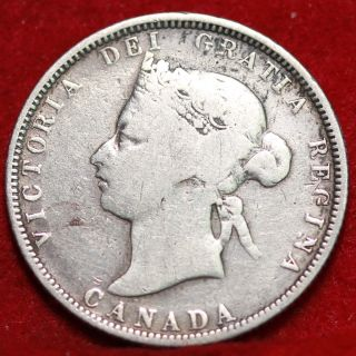 1881 - H Canada 25 Cents Silver Foreign Coin S/h photo