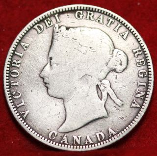 1870 Canada 25 Cents Silver Foreign Coin S/h photo