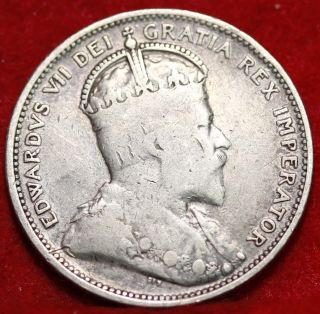 1902 Canada 25 Cents Silver Foreign Coin S/h photo