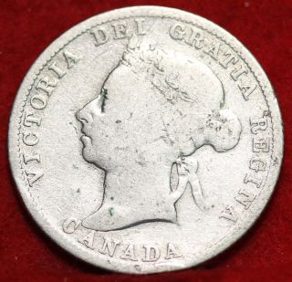 1886 Canada 25 Cents Silver Foreign Coin S/h photo