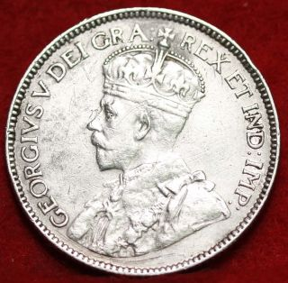 1915 Canada 25 Cents Silver Foreign Coin S/h photo