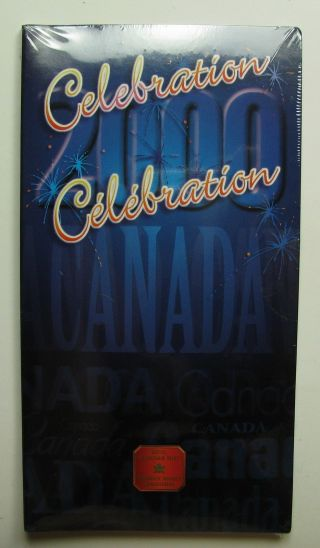 2000 Unc 25 Cents Celebration July Coloured Canada Twenty - Five Quarter photo
