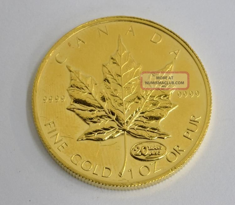 Canada 50 Dollars 1oz Fine Gold Coin 1999