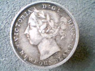 Canada 19th C.  Newfoundland Sterling Silver 20 Cents 1899 Victoria 120k photo