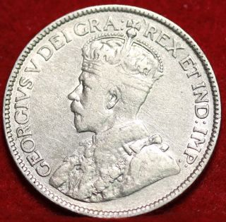 1913 Canada 25 Cents Silver Foreign Coin S/h photo
