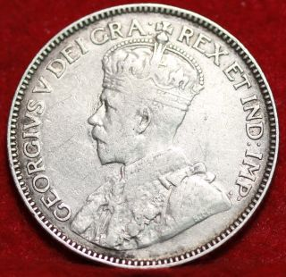 1914 Canada 25 Cents Silver Foreign Coin S/h photo