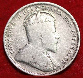 1905 Canada 25 Cents Silver Foreign Coin S/h photo