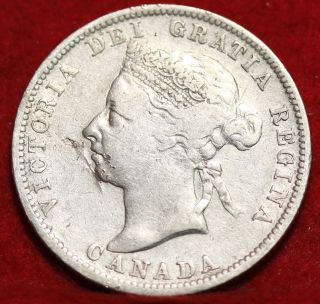 1900 Canada 25 Cents Silver Foreign Coin S/h photo