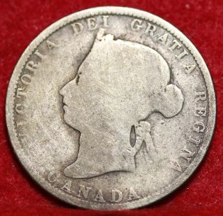 1883 - H Canada 25 Cents Silver Foreign Coin S/h photo