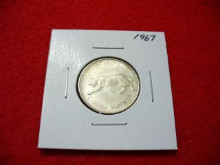 1967 Canada Silver Quarter Dollar Canadian 25 Cent Piece Coin photo