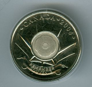 2004 Canada 25 Cents Poppy Test Token Top Grade Rare. photo