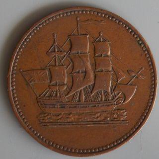 Colonies commerce canadian token prince edward island pei canada photo