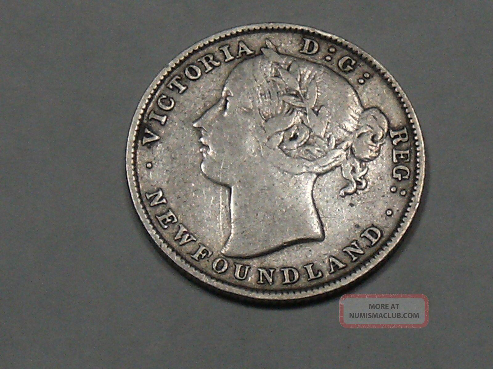 1896 Newfoundland Twenty Cent Silver Coin 6389b