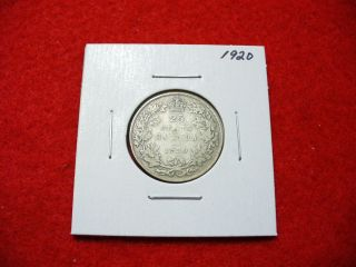 1920 Canada Silver Quarter Dollar Canadian 25 Cent Piece Coin photo