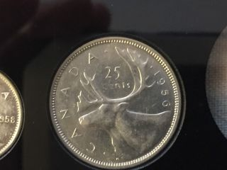 Canada 1956 Bu,  Flawless Silver 25 Cent Coin photo