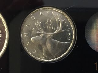 Canada 1959 Proof Like,  Flawless Silver 25 Cent Coin photo