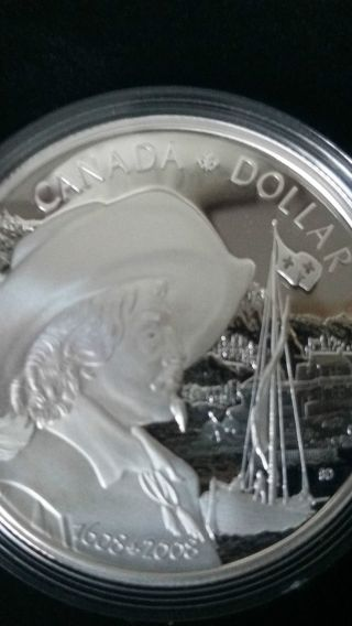 2008 400th Anniversary Of Quebec City Proof Dollar Coin. photo