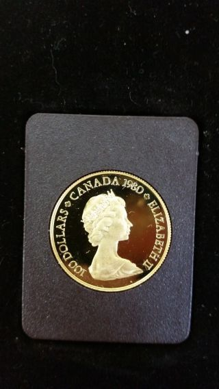 1980 Canadian 22 Karat Gold Proof Coin Legal Tender By Royal Canadian photo