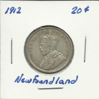 1912 Newfoundland 20 Cent Coin (10284) photo