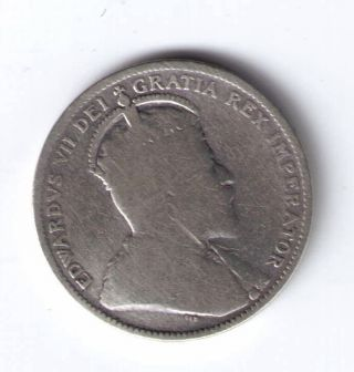 Canada Silver 25 Cents 1910 photo