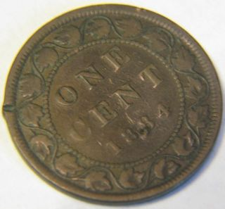 1884 Canada 1 Cent Coin photo